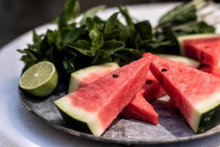 cocktail watermeloen munt limoen